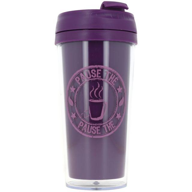 Promobo Mug Isotherme à transporter Américain Cup Of Tea Prune