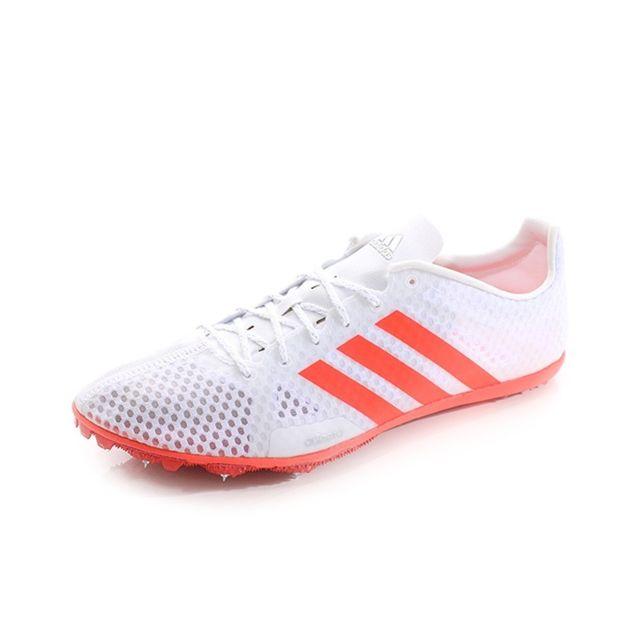 Adidas Chaussures Adizero Ambition Blanc Rouge Athlétisme
