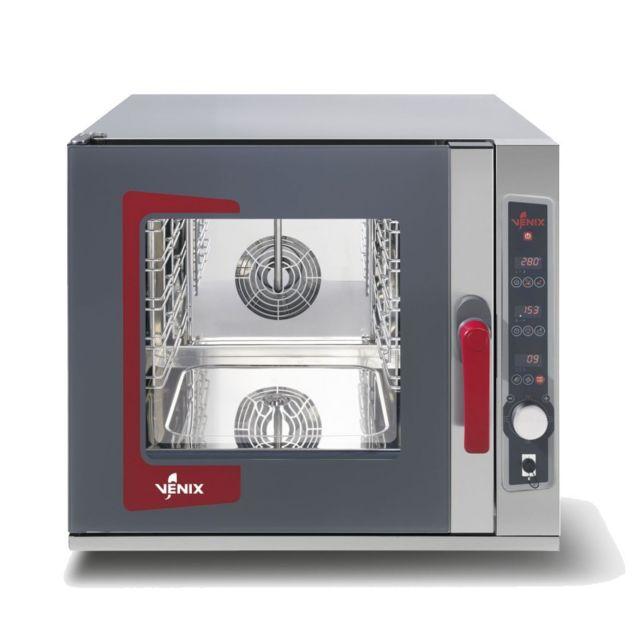 Materiel Chr Pro Four Mixte Professionnel Electrique à Vapeur - 5 Gn 2/3 à 20 Gn 1/1 - Venix - 5 Gn 2/3 355 x 325 mm