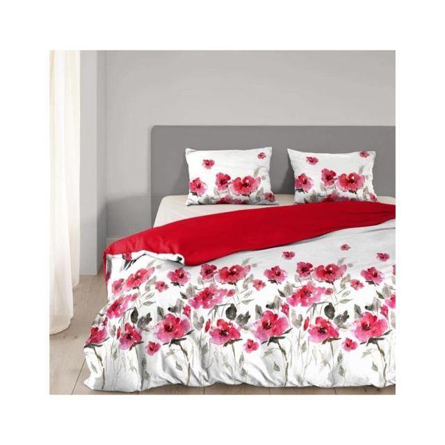 usines discount good morning parure de couette flowerdream 100 coton 1 housse de couette. Black Bedroom Furniture Sets. Home Design Ideas