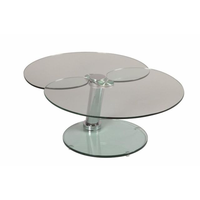 Inside 75 Table basse Clover en verre