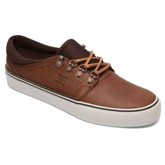 6fff5194447 Dc - Shoes Trase Lx Chaussure Homme - Taille 39 - Marron - pas cher Achat   Vente  Baskets homme - RueDuCommerce