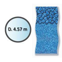 Swimline - liner boulder forme ronde d.4.57m pour piscine hors sol - li1548sbo