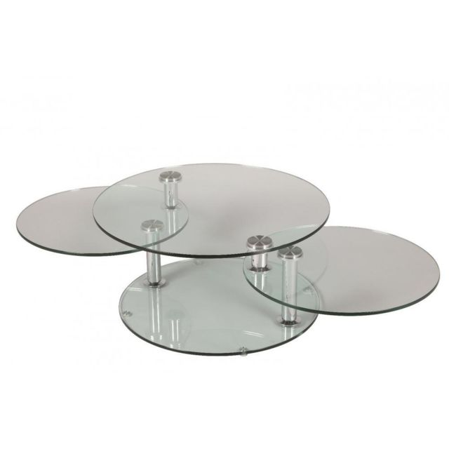 Inside 75 Table basse design Level ronde double plateaux