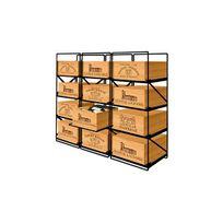 Modulorack - La seule solution pour stocker 12 caisses de vins et 144 bouteilles - Aci-mod511H