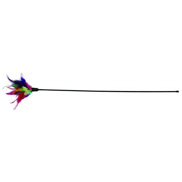 Trixie - Canne à pêche avec plume pour chats N/A