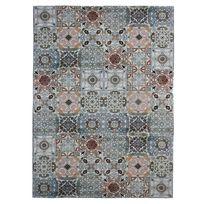 Mon Beau Tapis - Tapis motifs carreaux de ciment multi 160x230cm Mozaic