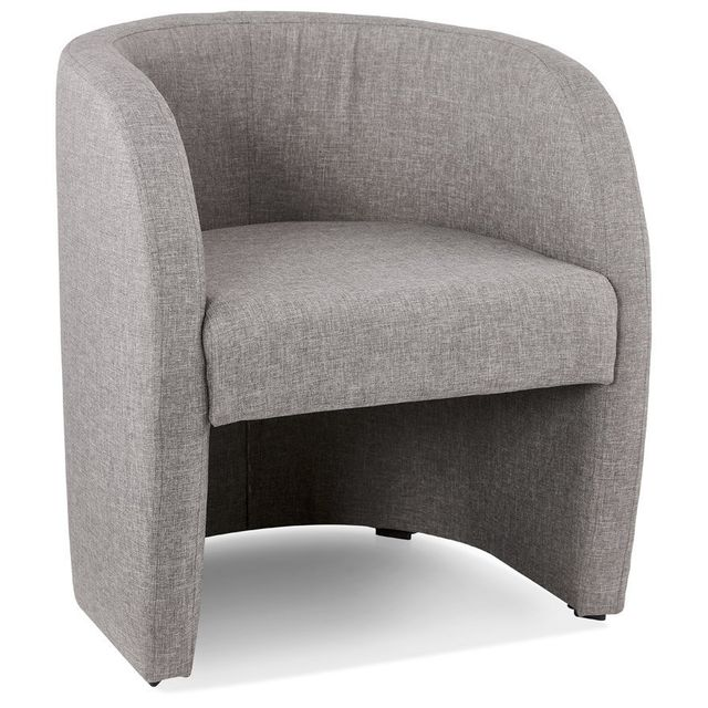 Alterego Fauteuil de salon design 1 place 'TOM' en tissu gris