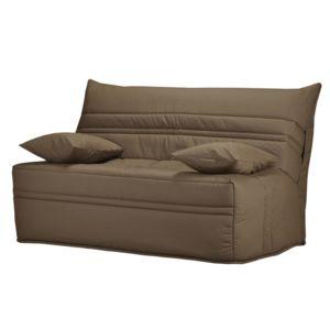 marque generique banquette bz housse en coton avec matelas sofaflex 9cm christelle taupe. Black Bedroom Furniture Sets. Home Design Ideas