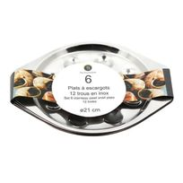 Util'Home - Thekitchenette Lot 6 plats a escargots 12 trous 4615205 gris