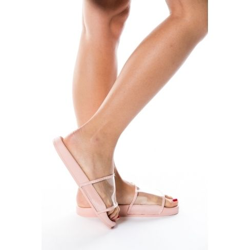 Princesse Boutique Claquette Rose transparente pas cher