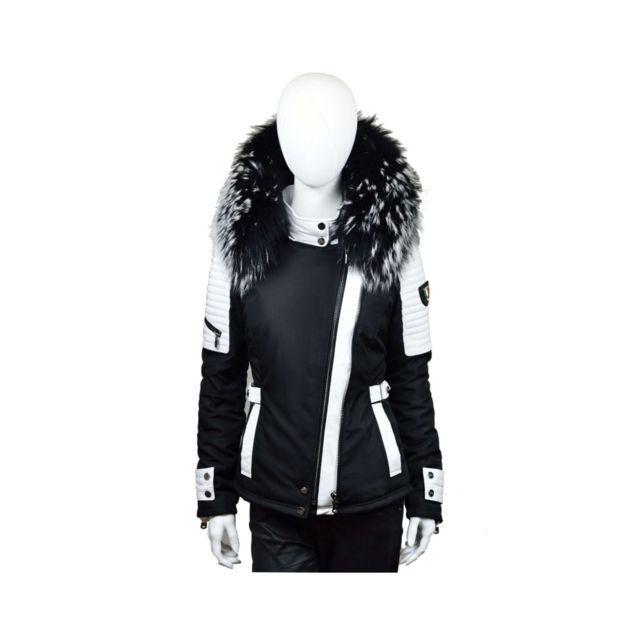 boutique pour officiel qualité supérieure haut fonctionnaire Belucci - Bellucci blanche fourrure argentédoudoune , doudoune femme, veste  femme, cuir femme, veste , veste fourrure