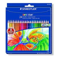 Staedtler - Lot De 5 Etui De 24 Crayons De Couleurs Assorties Noris Club