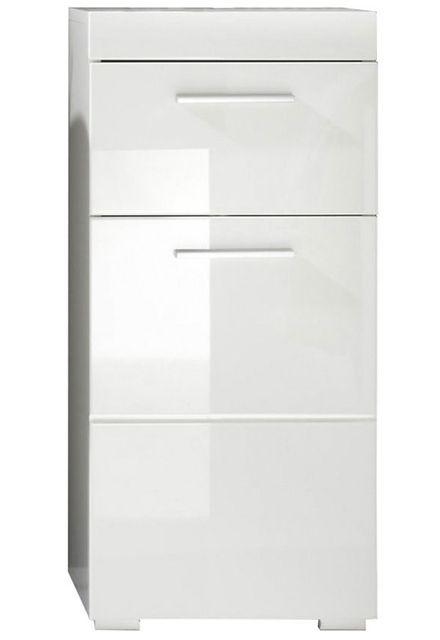 COMFORIUM Meuble bas Blanc brillant pour salle de bain