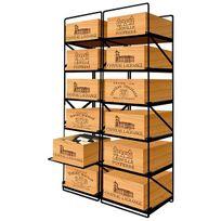 Modulorack - La seule solution pour stocker 12 caisses de vins et 144 bouteilles - Aci-mod511V
