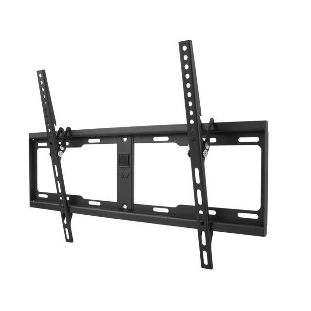 """ONEFORALL Support mural inclinable de 15 degrés pour TV de 32 à 84"""" 81-213cm Support mural pour TV LED/LCD/Plasma de 32 à 84"""" (81-213cm). Compatible avec les TV incurvés. Inclinaison maximum de 15°. Montage universel et ajustab"""