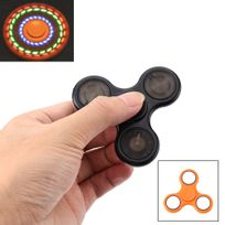 Shopinnov - Hand spinner fidget spinner modele lumineux orange