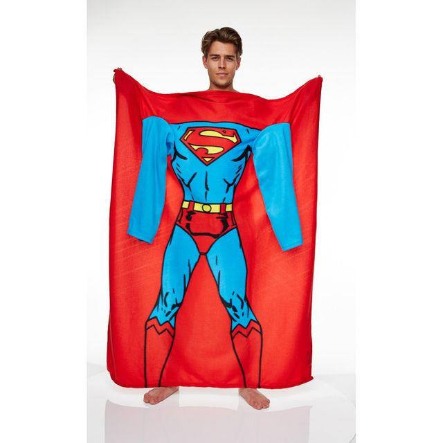 Kas Design Couverture Polaire à Manches Superman