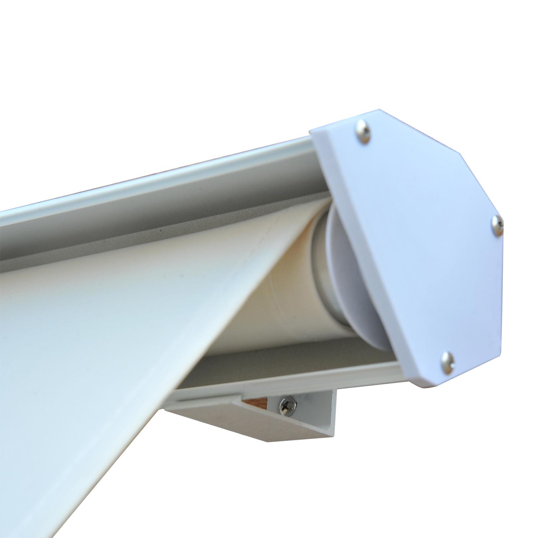 Store banne manuel inclinaison réglable aluminium polyester imperméabilisé 120L x 70l cm beige neuf 89