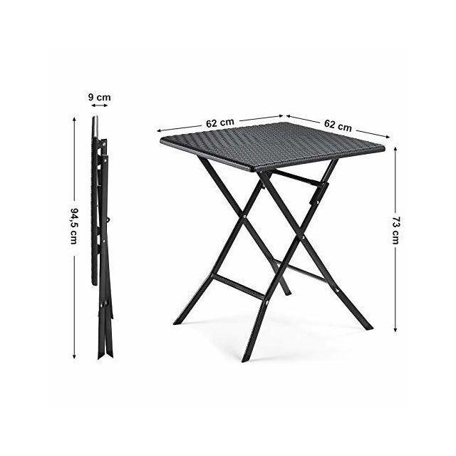 Table de jardin ø70cm Table de camping Vert Plastique Table Table de balcon Table de bistrot