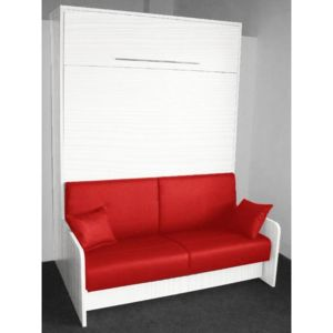 inside 75 armoire lit escamotable space sofa ch ne blanc canap int gr rouge couchage 160. Black Bedroom Furniture Sets. Home Design Ideas