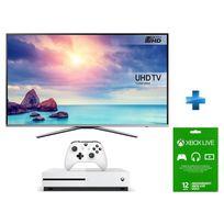 Samsung - TV LED 65'' 4K UHD Smart TV -UE65KU6400 + Console Xbox One S 500go + Abo Xbox One Live Gold 12 mois