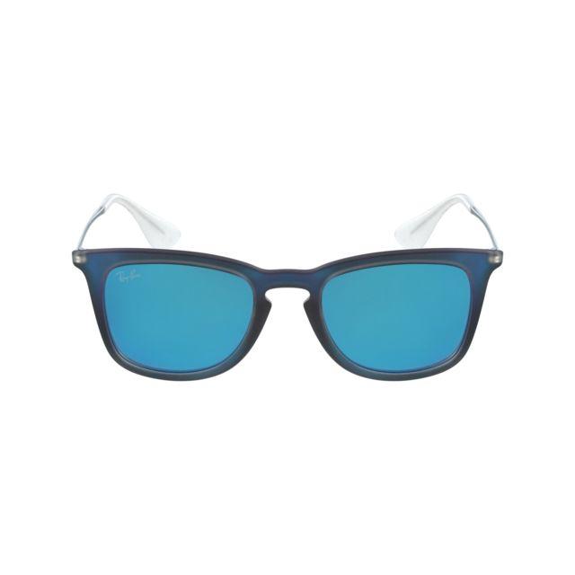 Ray-Ban - Ray Ban - Rb4221 6170 55 Bleu transparent - Noir -. Description   Fiche technique. Lunettes de soleil ... 841237518ea5