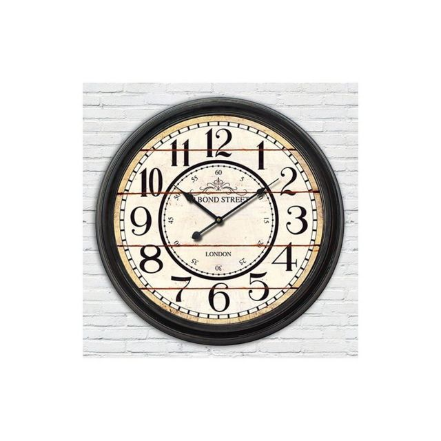 vida horloge de gare blanche retro double face new york vendu par rueducommerce 1428756. Black Bedroom Furniture Sets. Home Design Ideas