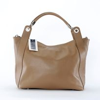 Oh My Bag - Sac à Main Cuir femme - Modèle Paris taupe foncé