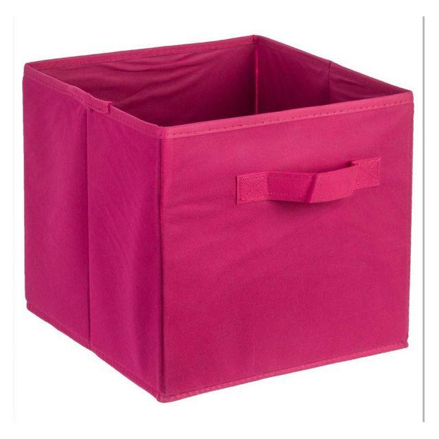 jja bac de rangement fuchsia pas cher achat vente bo te de rangement rueducommerce. Black Bedroom Furniture Sets. Home Design Ideas