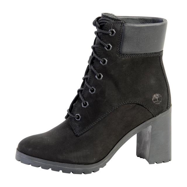 33d429289a638 Timberland - Chaussure Allington 6 inch Lace W U Black A1JVB - pas cher  Achat   Vente Bottes femme - RueDuCommerce
