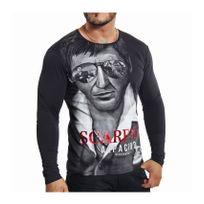 Jeel - BlackRock - T-shirt Scraface noir manches longues