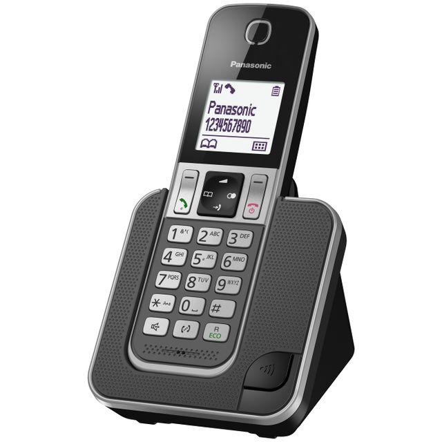PANASONIC - Téléphone fixe Sans fil Sans répondeur TGD310FRG Solo Noir 7fcffa9b923e