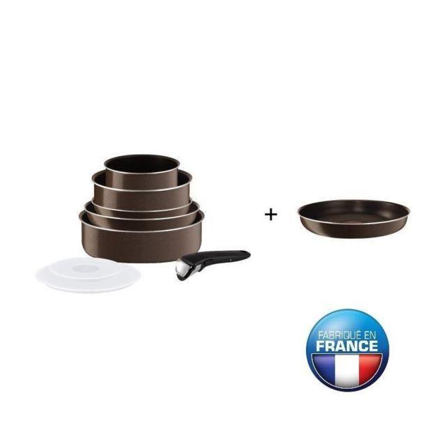 Tefal Ingenio Essential Batterie De Cuisine Tobacco 9 Pieces