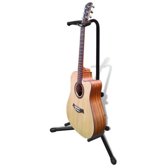 Vidaxl Stand de guitare pliable Ce stand de guitare réglable est adapté à toutes les guitares et peut éviter les chutes de votre guitare.