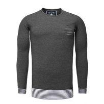 Akito Tanaka - Tee shirt manche longue rayé gris