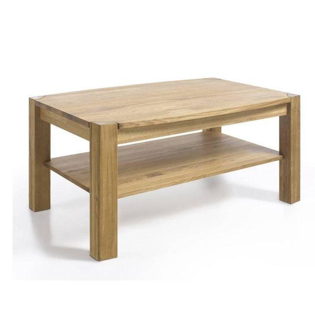 Inside 75 Table basse Kalos 110 x 70 cm en bois de chêne massif huilé