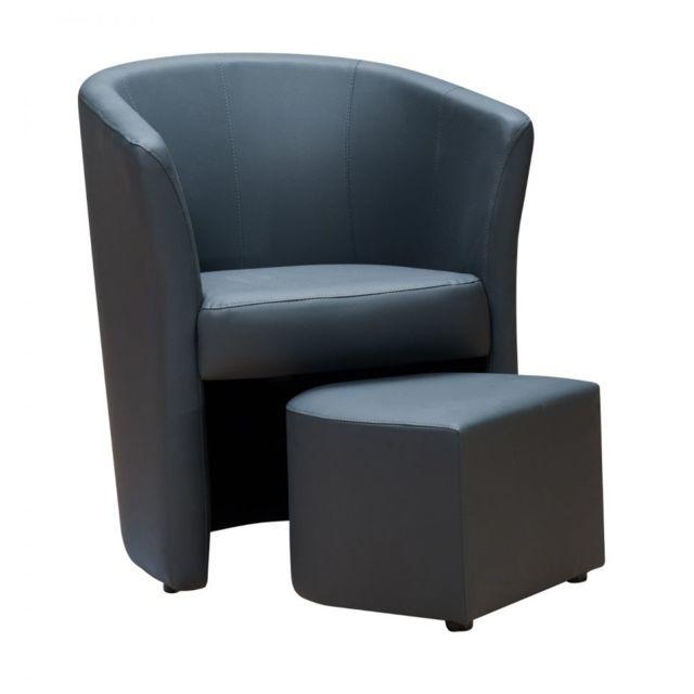 gnrique fauteuil pouf djerba gris anthracite - Fauteuil Et Pouf
