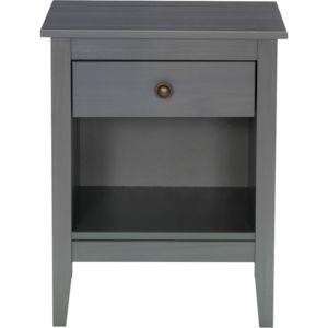 alina lison table de chevet grise 1 tiroir et 1 niche - Table De Nuit Alinea