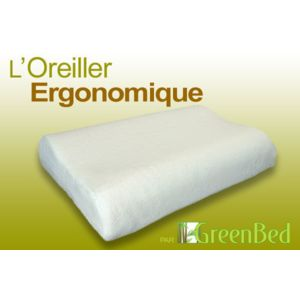 Greenbed l 39 oreiller ergonomique taille 60x40 grand confort maintien m - Oreiller grand confort ...