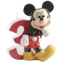Dekora - Bougie Anniversaire Mickey - Chiffre 3
