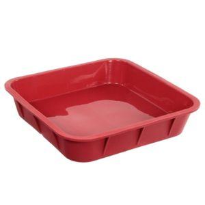 maison futee moule carr en silicone 24 cm rouge pas cher achat vente moule patisserie. Black Bedroom Furniture Sets. Home Design Ideas