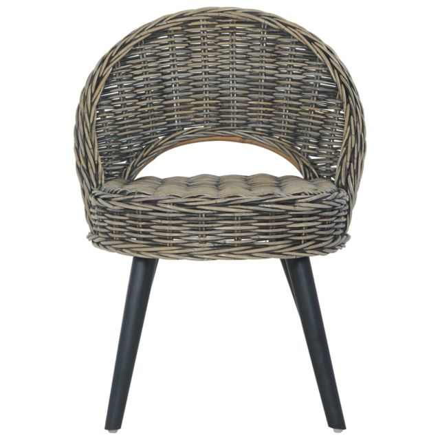 Icaverne - Fauteuils reference Chaise-canapé Kubu Rotin Noir