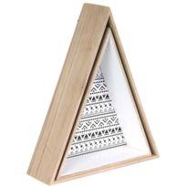 THE HOME DECO FACTORY - Etagère en triangle en bois Happy Life Lot de 2
