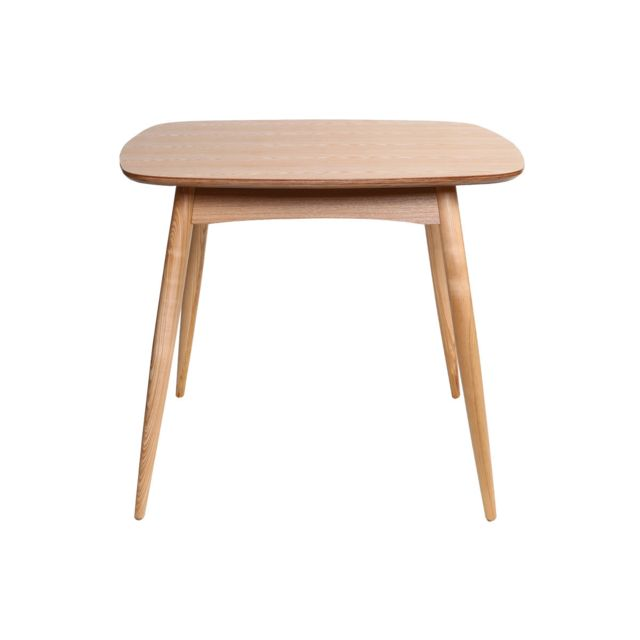 Miliboo Table à manger design carrée frêne naturel L90 cm Baltik