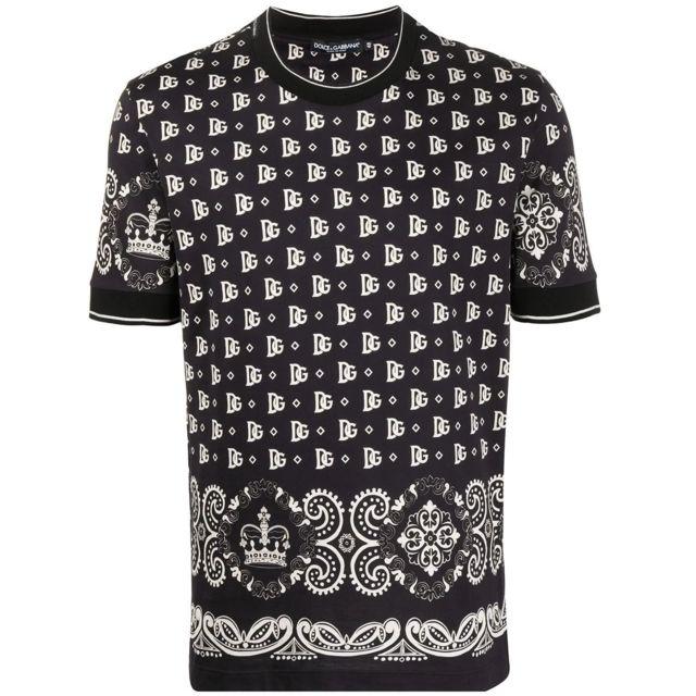 DOLCE & GABANNA Dolce E Gabbana Homme G8KD0TFI7G5HN74C Noir Coton T-shirt