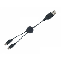 SUBSONIC - CABLE DE RECHARGE DOUBLE- DUAL CHARGE & PLAY CABLE - WII U