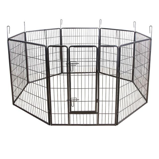 helloshop26 parc enclos cage pour chiens chiots animaux. Black Bedroom Furniture Sets. Home Design Ideas