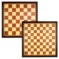 Abbey Game - Jeu échec et dame en bois marron/écru