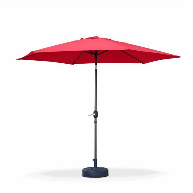 alice 39 s garden parasol droit rond 300cm touquet rouge. Black Bedroom Furniture Sets. Home Design Ideas